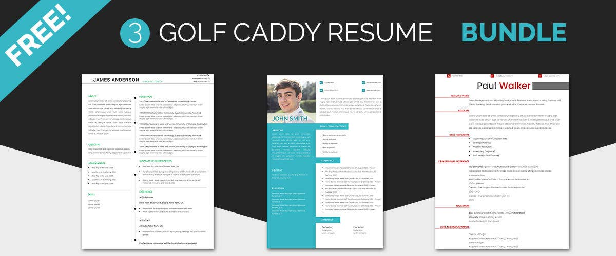 Golf Caddy Resume Templates