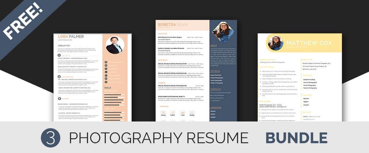 photographer resume templates
