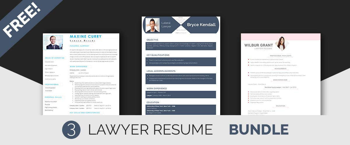 Lawyer Resume Templates