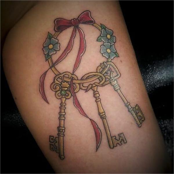 keys tattoo design