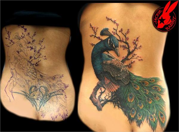 peacock cool tattoo