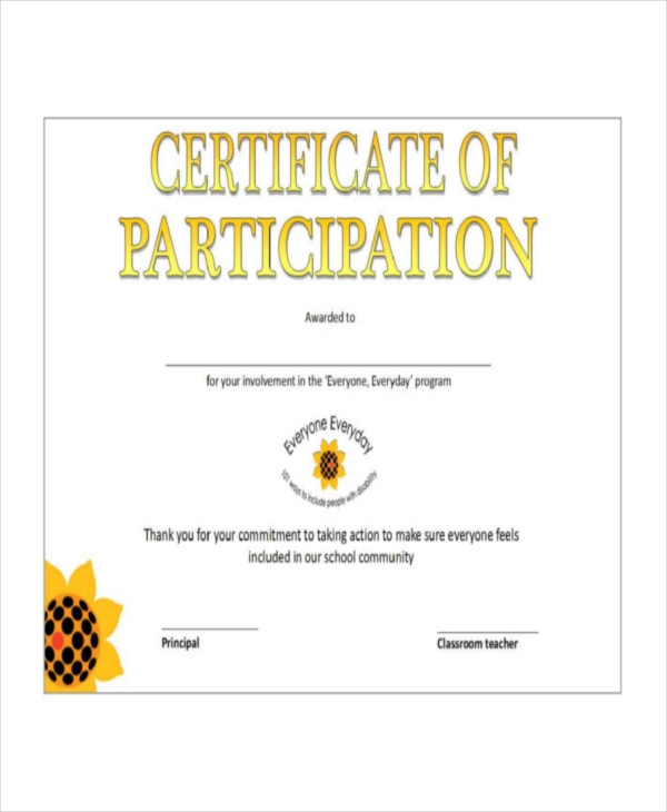 Certificate template 12 free word pdf document for Certification of participation free template
