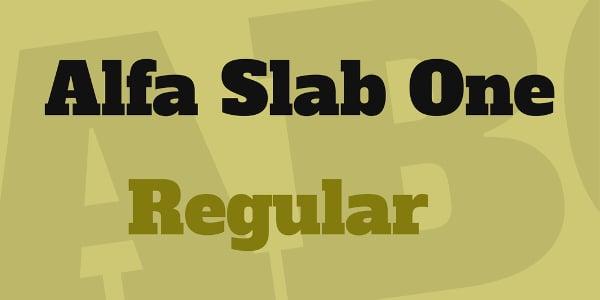 Alfa Slab One Font