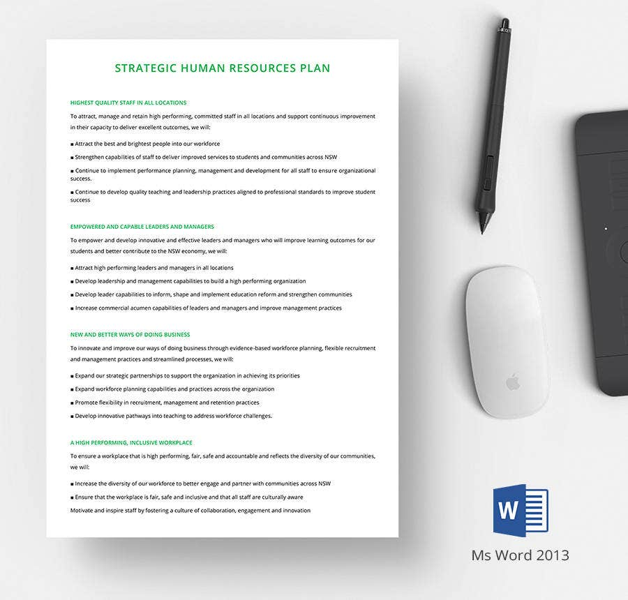 human resources strategic planning template - 7 free human resource strategy templates sales