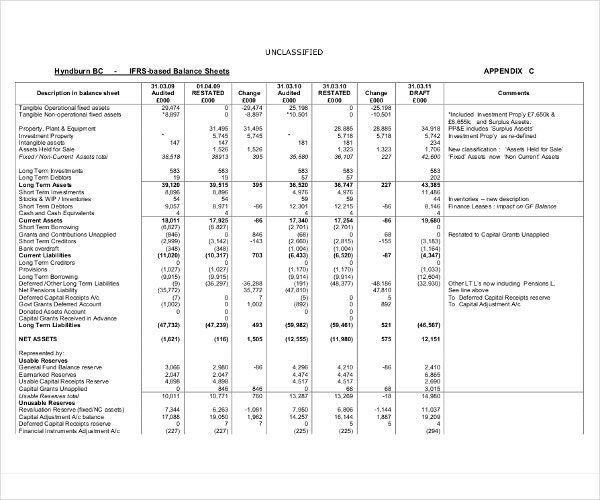 Balance Sheet Examples  Download In Word Pdf  Free  Premium