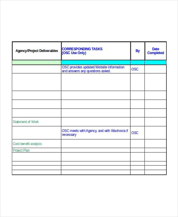 Excel Implementation Plan Template