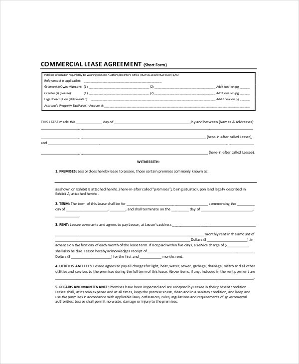 Commercial Land Lease Agreement