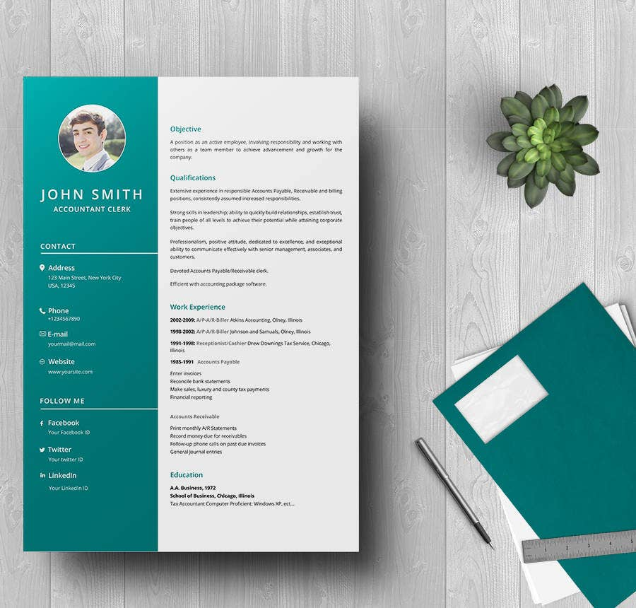 Accountant Clerk Resume Template