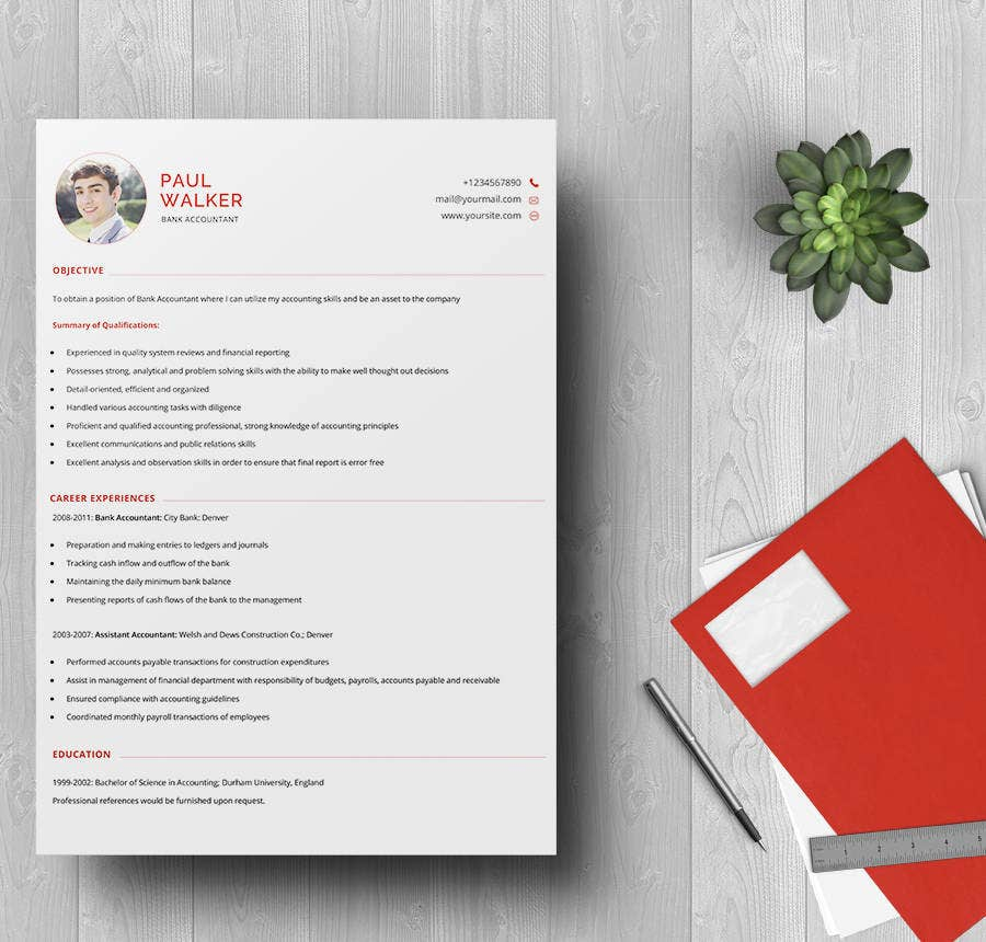 Bank Accountant Resume Template