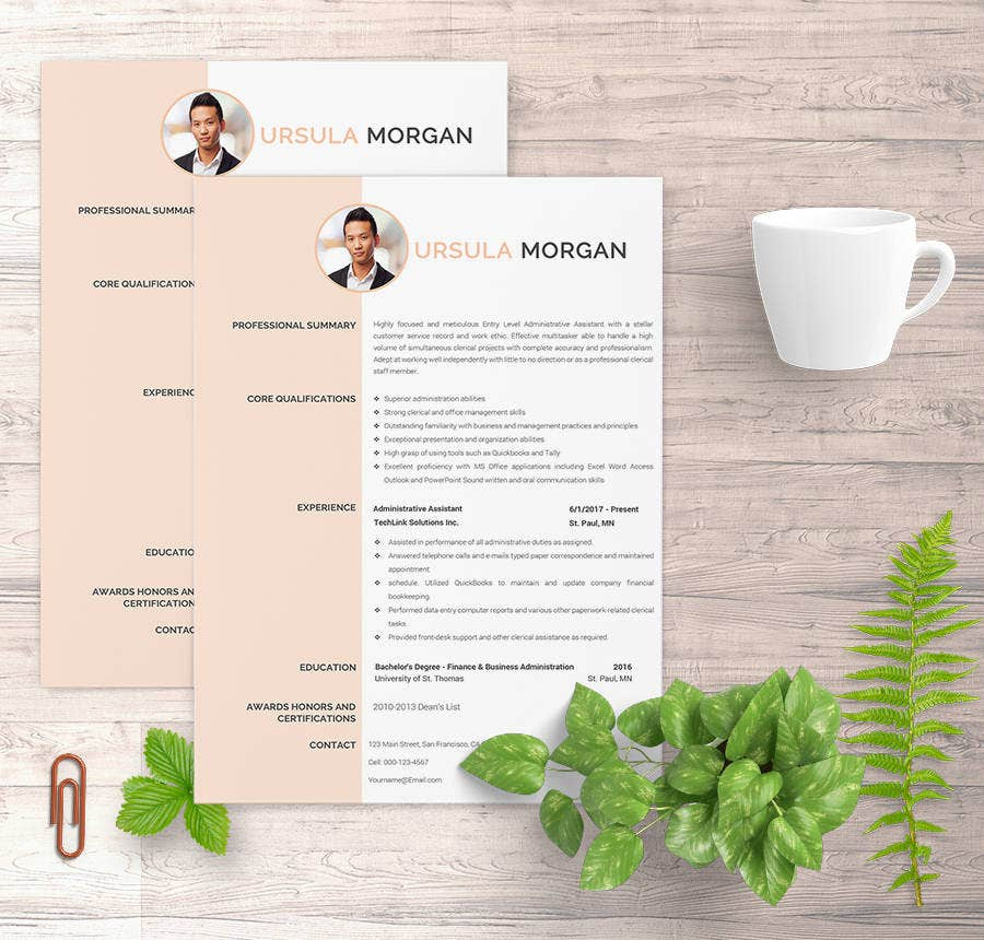 Experience Administrative Assistant Resume Template