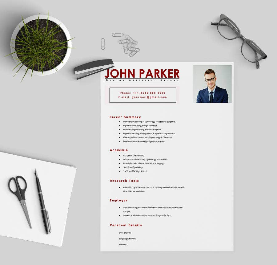 Doctor Assistant Resume Template