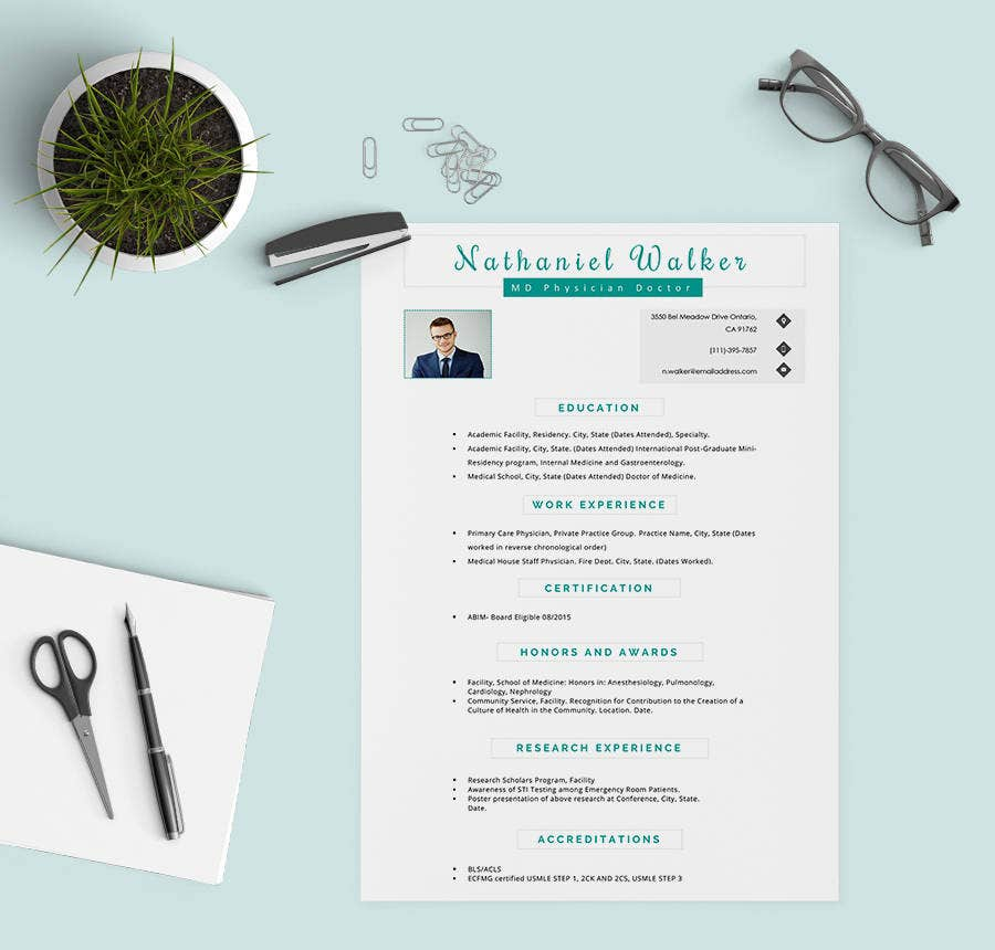 MD Physician Resume Template