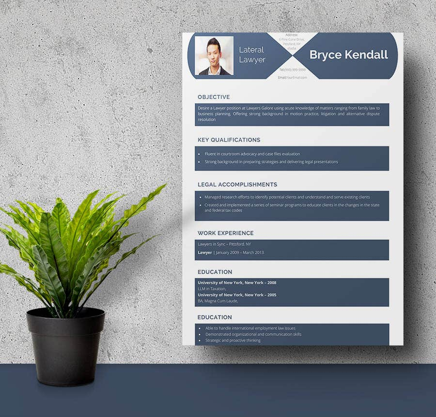 Lateral Lawyer Resume Template