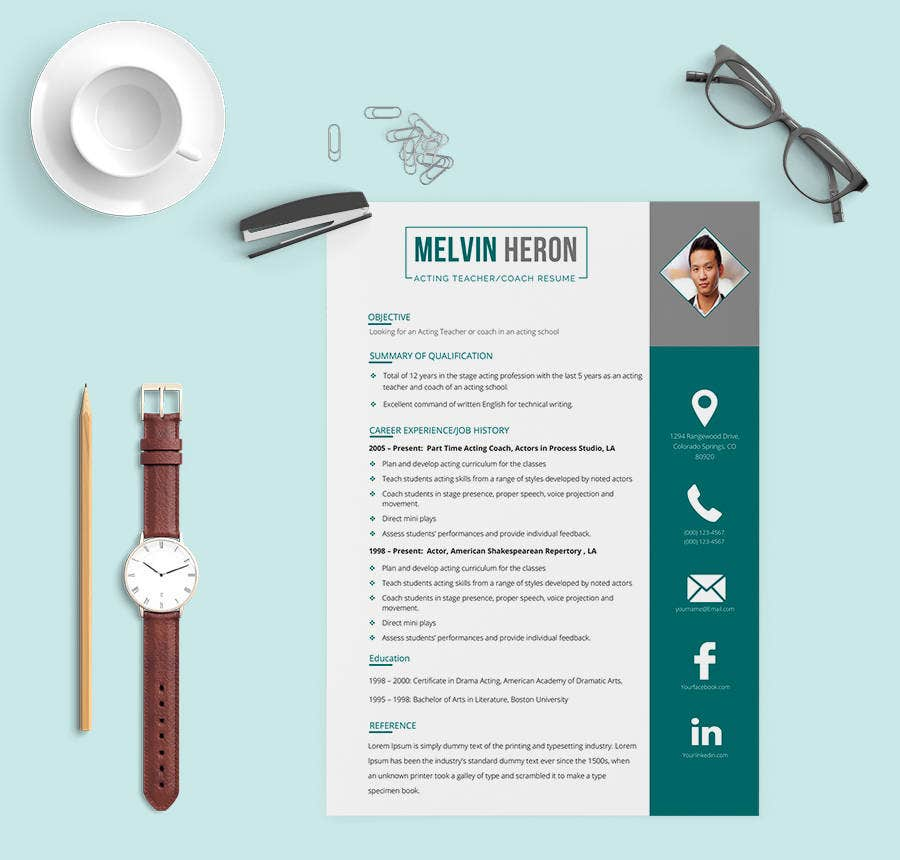 Acting Teacher Resume Template