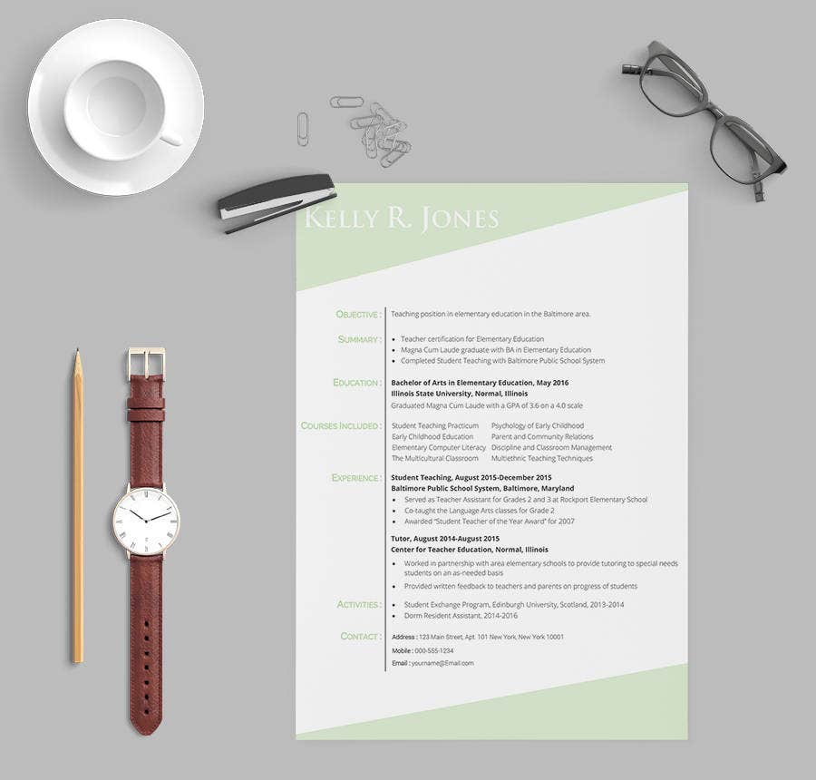 resume templates for teachers 2