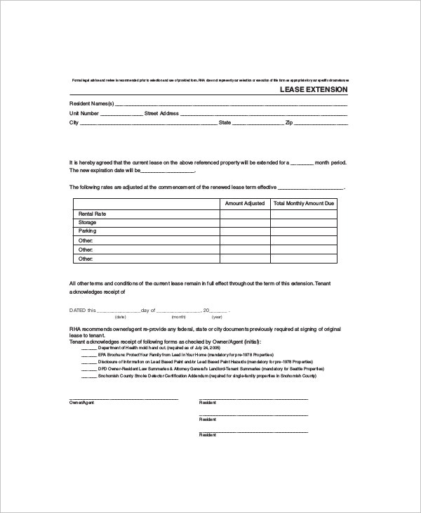 Rental Lease Templates  Free Sample Example Format  Free