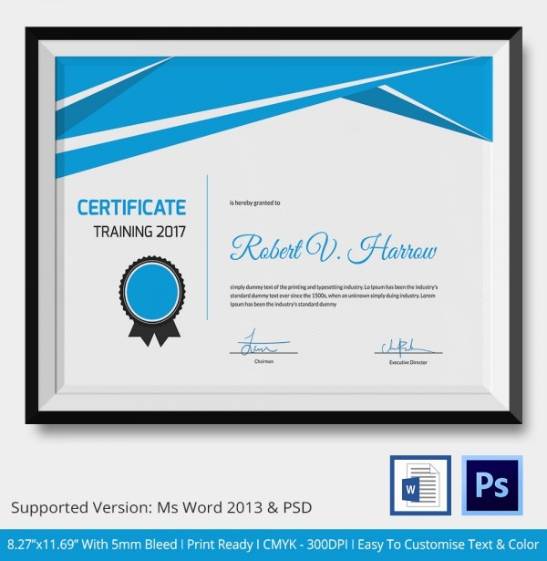 Word 2007 training certificate chaosko word 2007 training certificate yelopaper Images