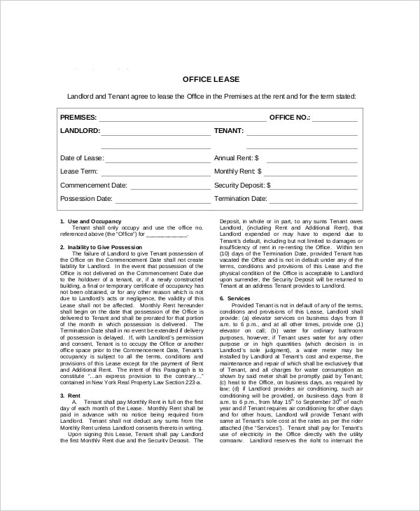 example office lease contract