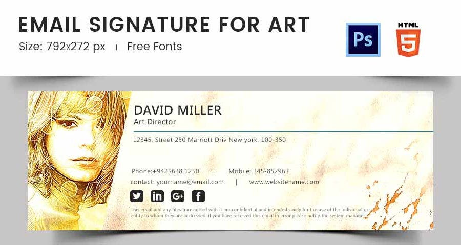 Email Signature for Arts