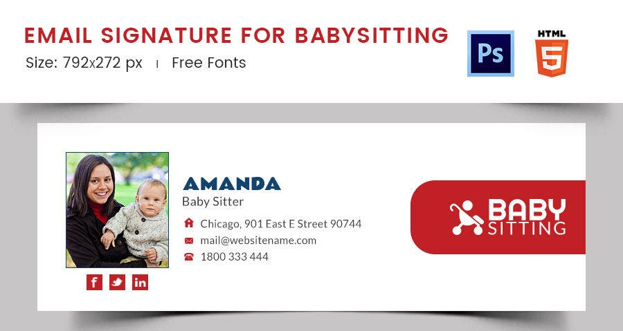 Email Signature for Baby Sitting