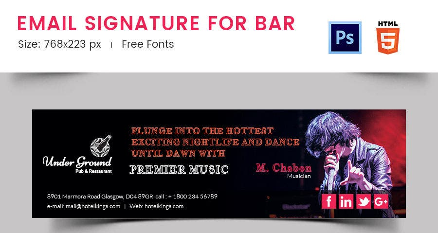Email Signature for Bar