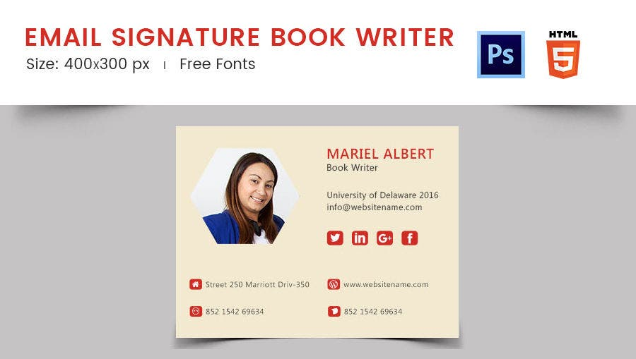 how to make responsive email signature
