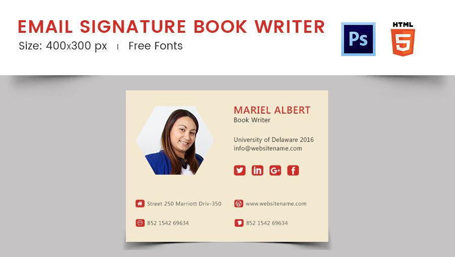 Email Signature Book Writer