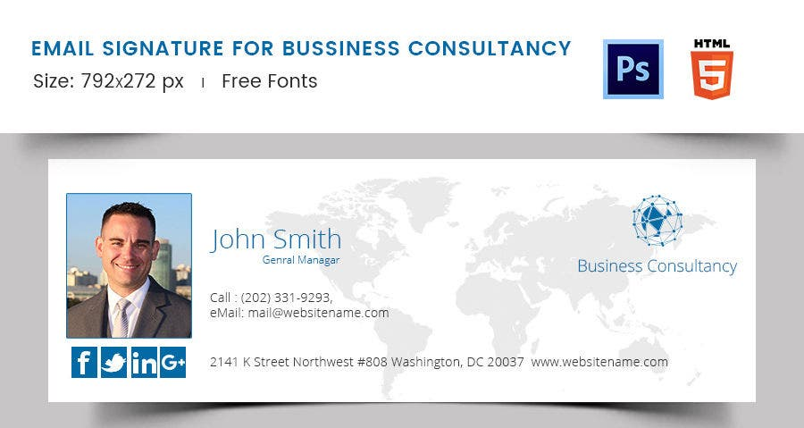 Email Signature for Business Consultancy