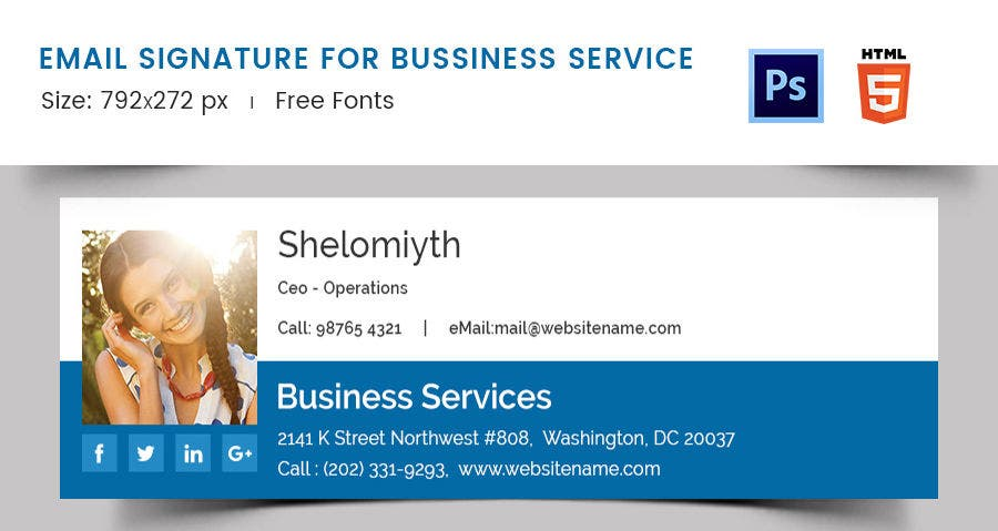 Email Signature for Business Service
