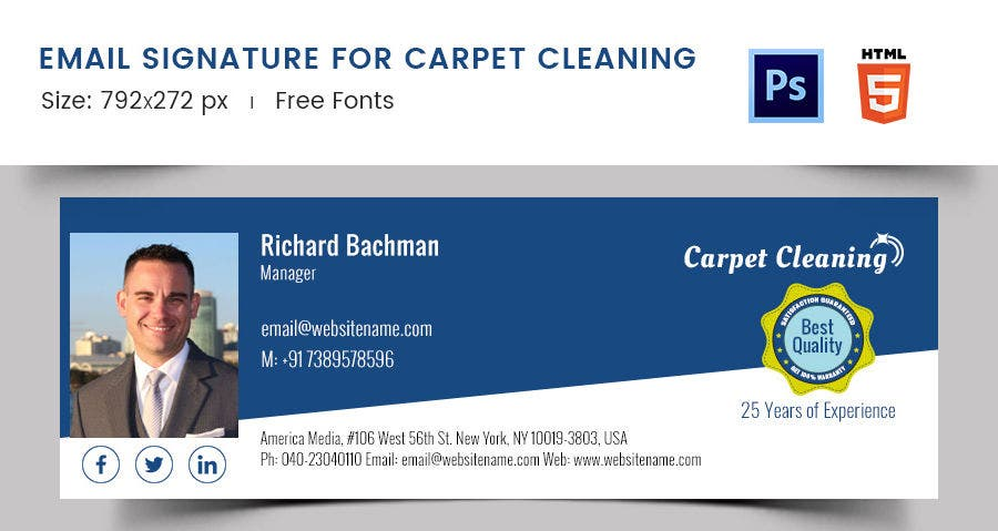 Email Signature for Carpet Cleaning