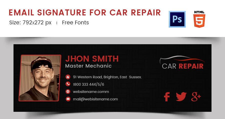 Email Signature for Car Repair