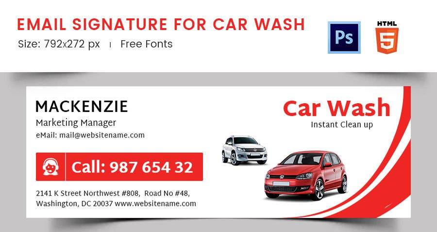Email Signature for Car Wash
