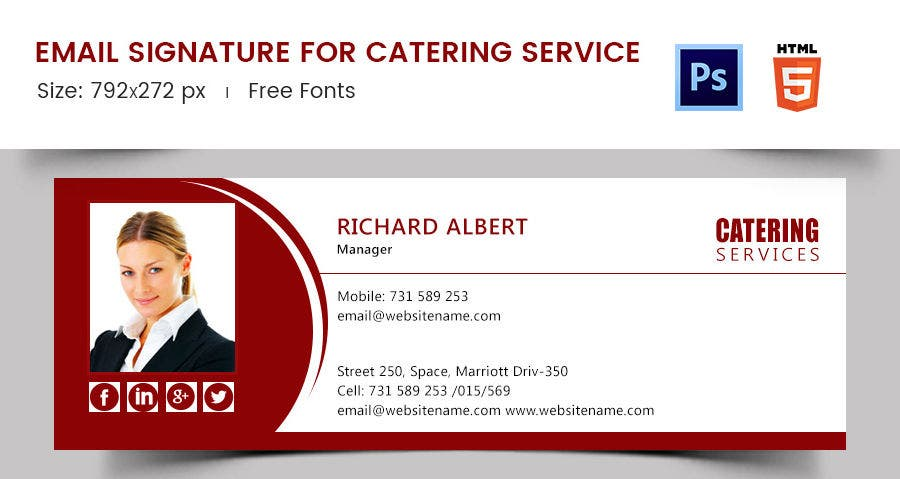 Email Signature for Catering Service
