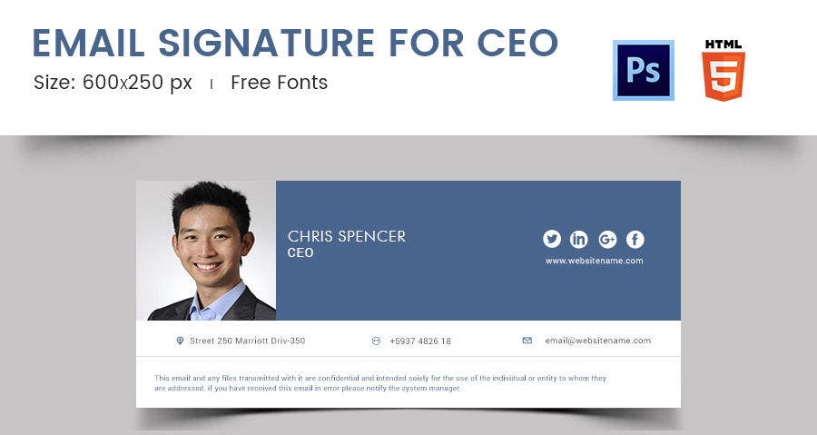Email Signature for CEO