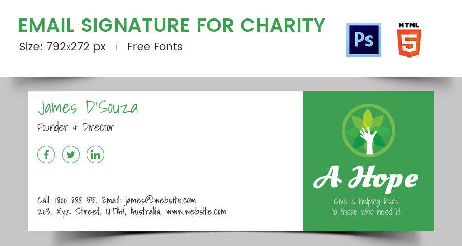 Email Signature for Charity