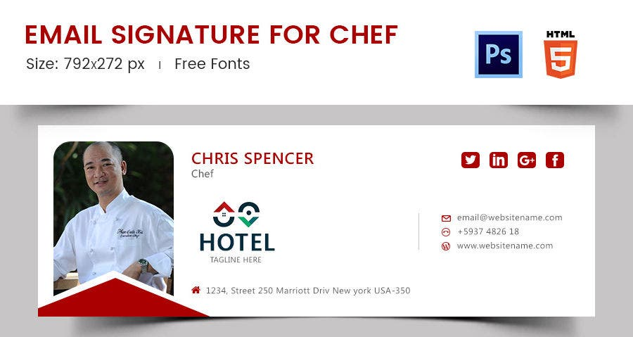 Email Signature for Chef