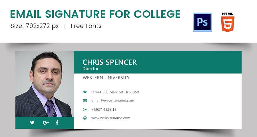 Email Signature for College