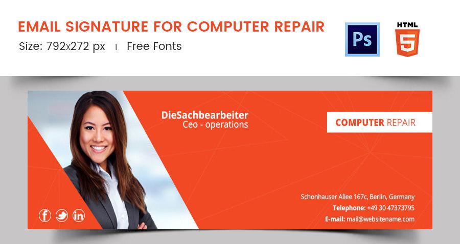 Email Signature for Computer Repair