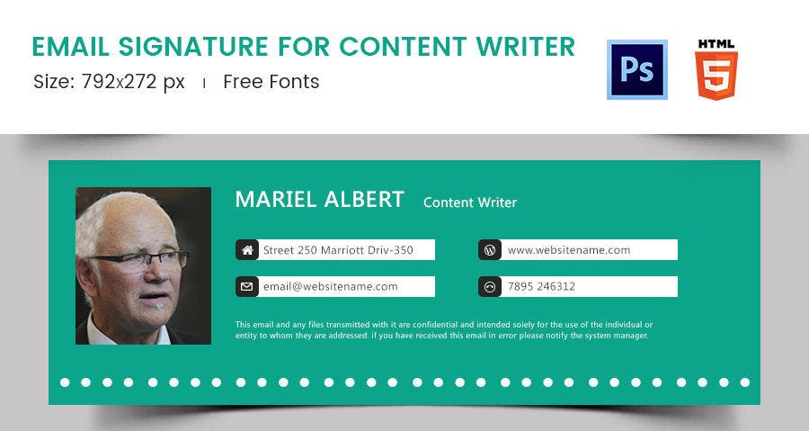 Email Signature for Content Writer