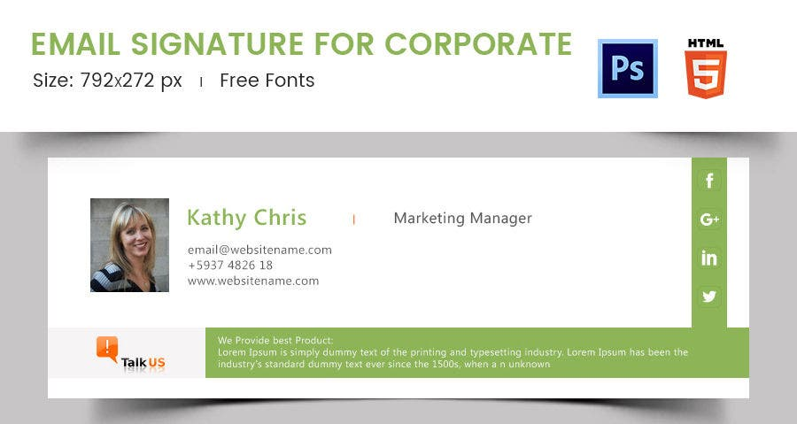 Email Signature for Corporate