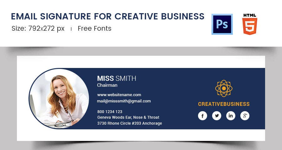 Email Signature for Creative Business