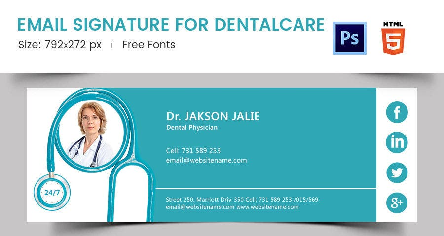 Email Signature for Dental Care