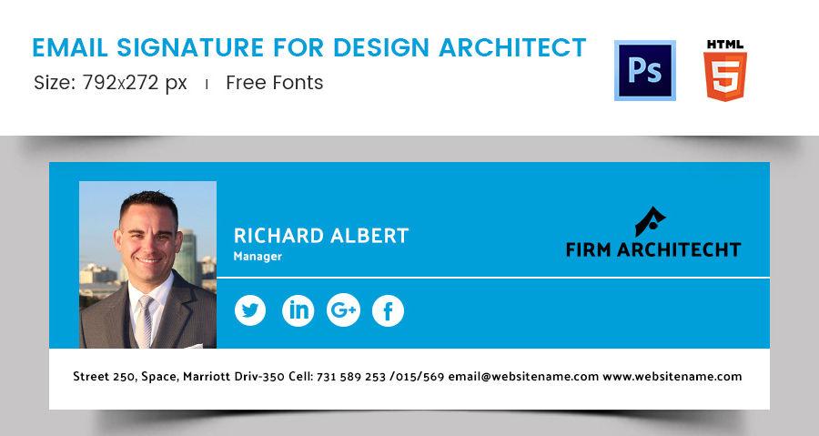 Email Signature for Design Architect
