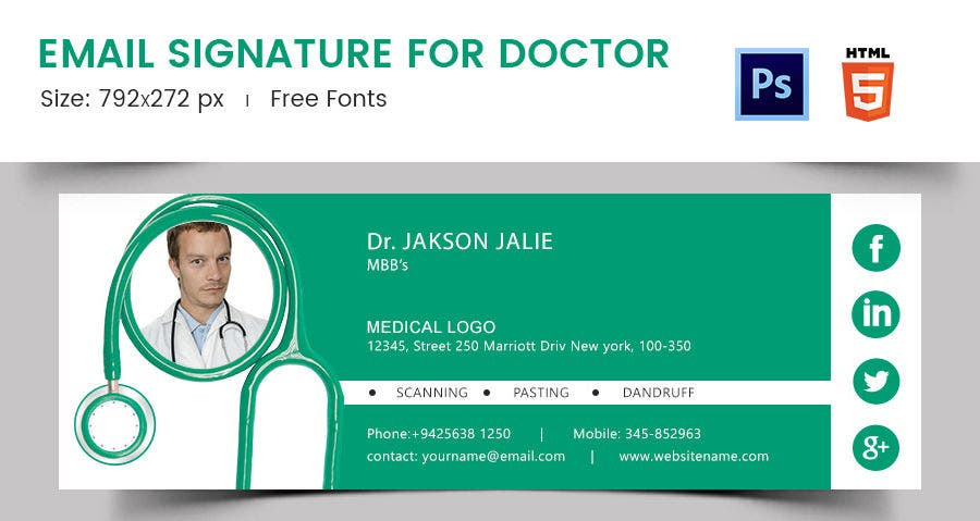 Email Signature for Doctor