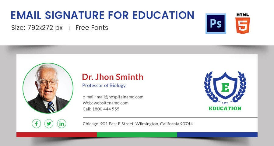 Email Signature for Education