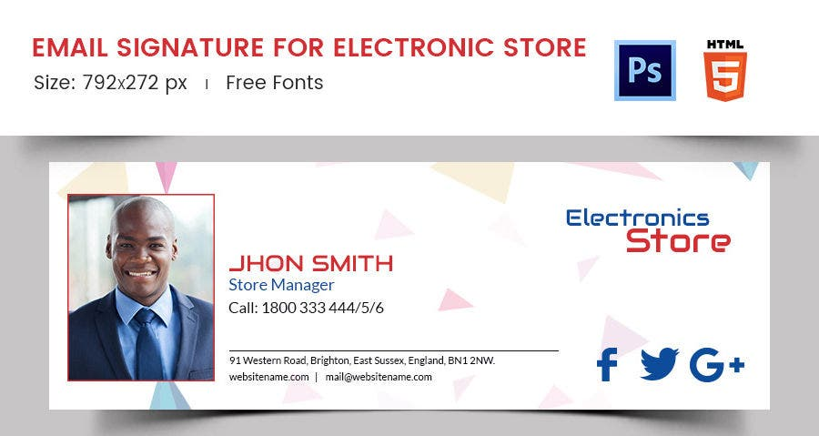 Email Signature for Electronic Store