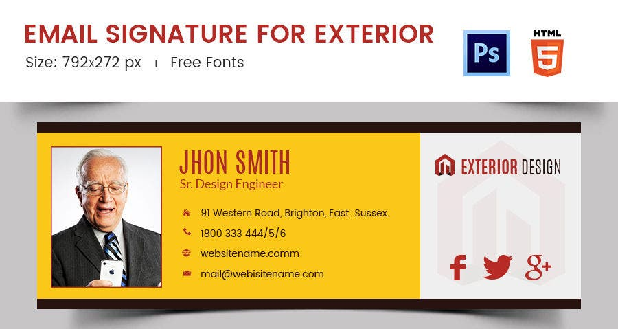 Email Signature for Exterior