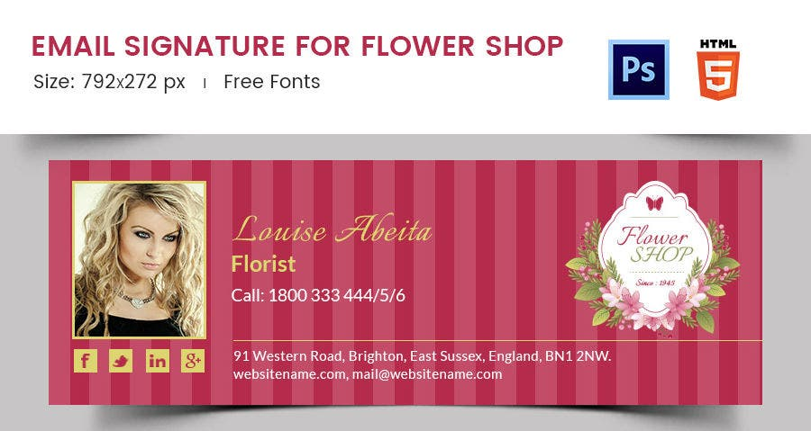 Email Signature for Flower Shop
