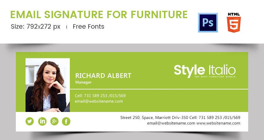 Email Signature for Furniture