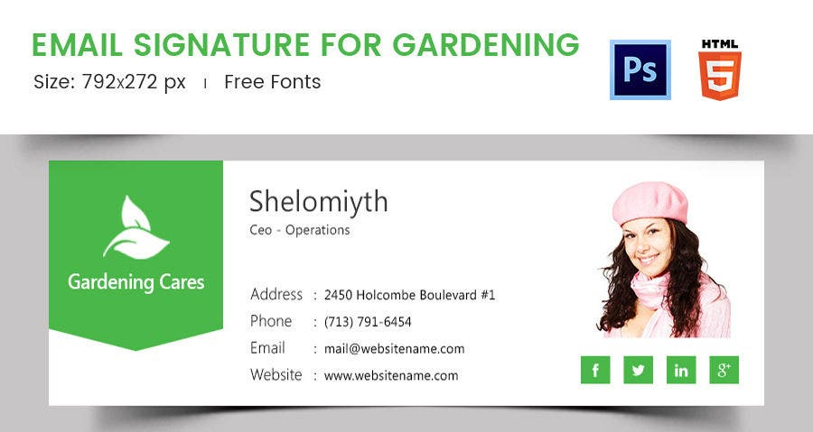Email Signature for Gardening